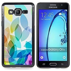 For Samsung Galaxy On5 O5 Case , Hoja Hojas de otoño de la caída del patrón - Diseño Patrón Teléfono Caso Cubierta Case Bumper Duro Protección Case Cover Funda
