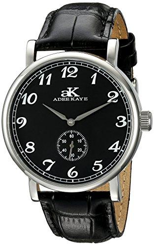 Adee Kaye Men's AK9061N-M/BK Vintage Mechanical Analog Display Mechanical Hand Wind Black Watch