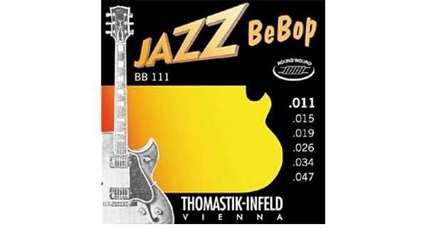 Amazon.com: CUERDAS GUITARRA ELECTRICA - Thomastik (BB111) Jazz Bebop (Juego Completo 011/047E): Musical Instruments