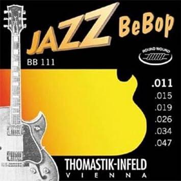 CUERDAS GUITARRA ELECTRICA - Thomastik (BB111) Jazz Bebop (Juego Completo 011/047E): Amazon.es: Instrumentos musicales