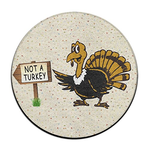 Funny Thanksgiving Not A Turkey Non-slip Mats Circular Carpet Mats Dining Room Bedroom Carpet Floor Mat 23.6 - Turkey Beach Sugar