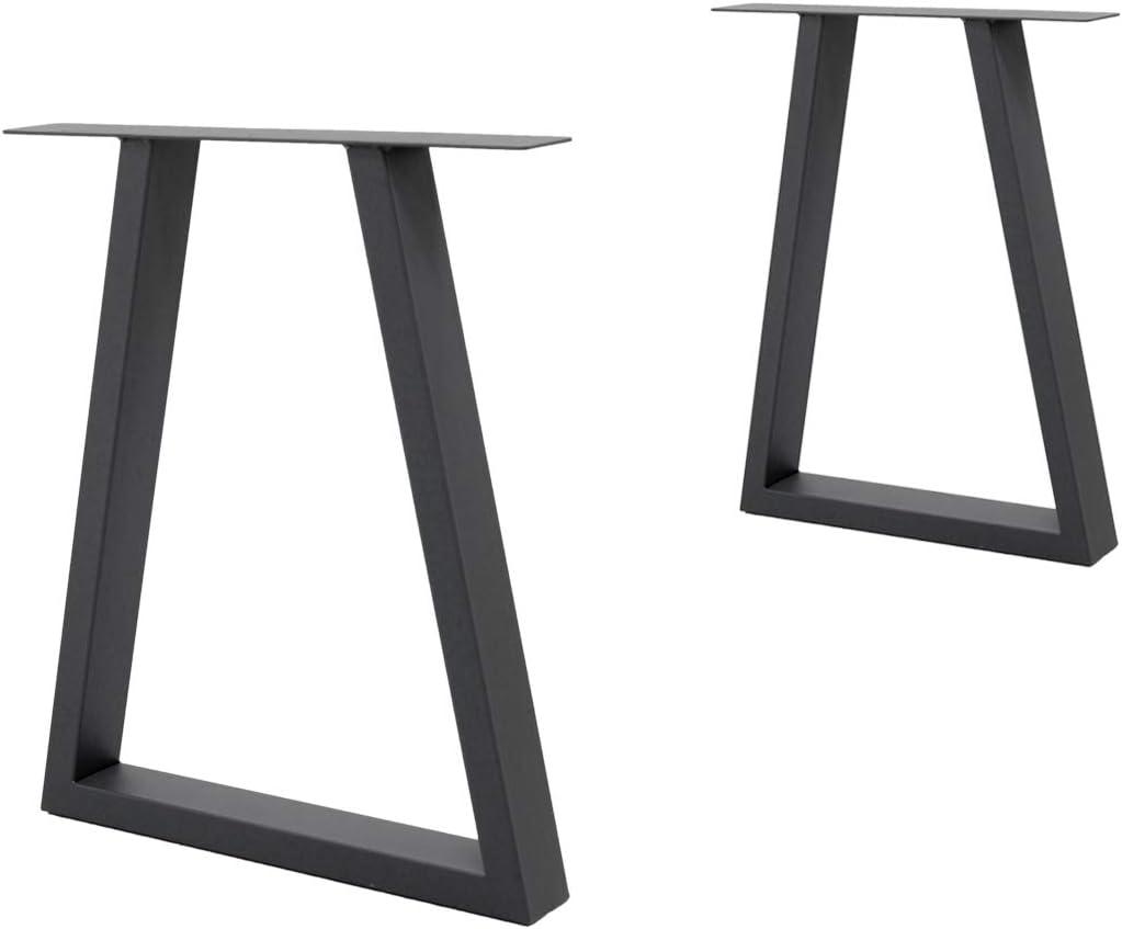60 x 72 cm ECD Germany 2 St/ück Tischgestell X-Design aus pulverbeschichtet Stahl Industriedesign Tischuntergestell Tischbeine Set Tischkufen Tischf/ü/ße Dunkelgrau