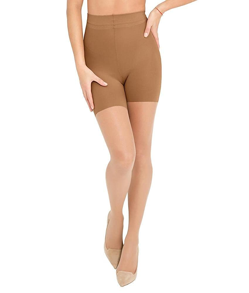 eea39ce4305 ASSETS Red Hot Label by SPANX Firm Control Shaping Pantyhose Short Sheers  Underwear Shorts at Amazon Women s Clothing store