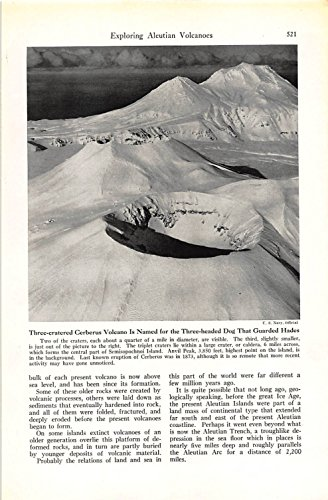 Print Ad 1948 Three-cratered Cerberus Volcano Is Named for the Three-headed -