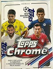 2020-21 TOPPS Chrome UEFA Champion League Soccer Blaster Box