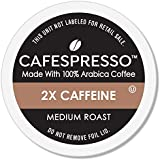CAFESPRESSO Medium Roast Plus 2X Caffeine Single Serve Coffee Pods for K Cup Keurig 2.0 Brewers, 42Count (Packaging May Vary)