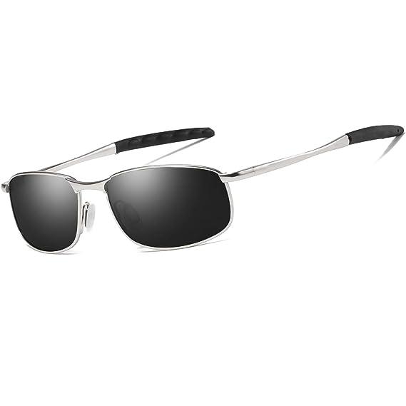 556c0f08cce FEIDU Polarized Sport Mens Sunglasses HD Lens Metal Frame Driving Shades FD  9005 (G-black-silver