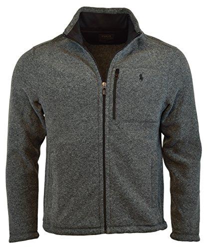 Polo Ralph Lauren Performance Full Zip Fleece Jacket S Grey Heather (Mens Lauren Fleece Ralph)