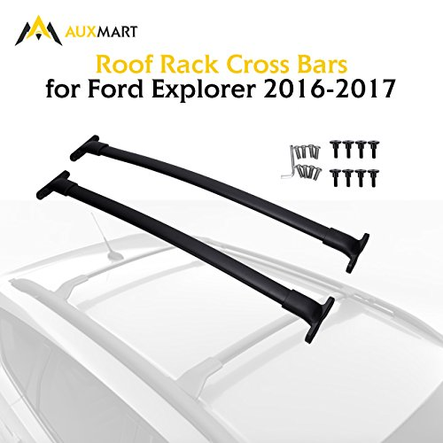 Explorer Roof Rack - AUXMART Roof Rack Cross Bars for Ford Explorer 2016-2017 with Factory Roof Side Rails, Models with Sunroof - 68KG/150LBS (Pack of 2)
