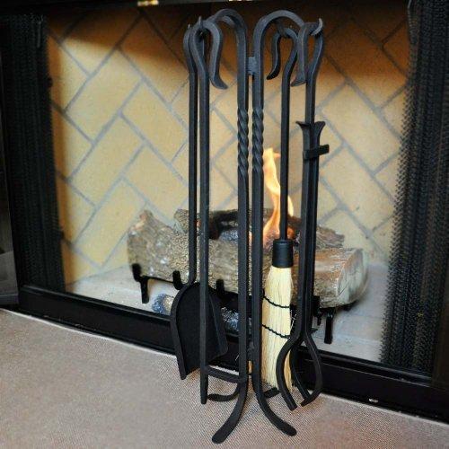 Amazon Com 4 Piece Shepherd S Hook Iii Wrought Iron Fireplace