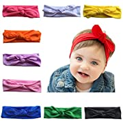 Arlai 10 Color Baby Rabbit Ear Headband Headwrap Turban Set Of 10
