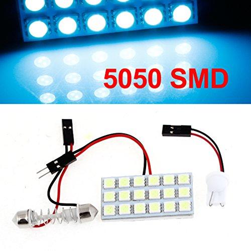 Auto Car 18 Blue 5050 SMD LED Map Reading Light w T10 Festoon Adapter