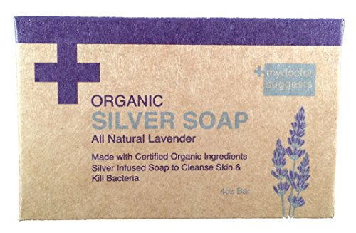 My Doctor Suggests Organic Silver Soap - All Natural Lavender - 4oz Bar