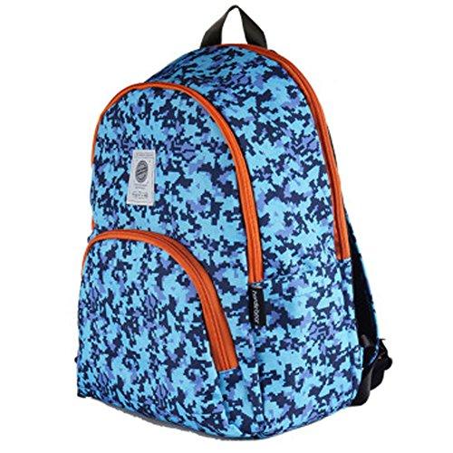 Modische Reise Rucksack Schule Wanderbuchtasche Rucksack Sport, Blau