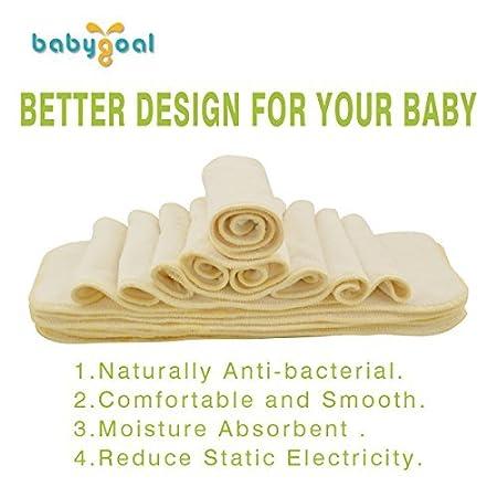 Adjustable Pocket Nappy 6pcs Diapers+6pcs Microfiber Inserts+4pcs Bamboo Inserts 6FB12 Babygoal Baby Reusable Cloth Diapers