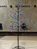 Bolylight LED Lighted Frosted Ball Tree 6ft 184L Bulb & Christmas Decorations for Home/Bedroom/Party, Outdoor and Indoor Use Multi-color