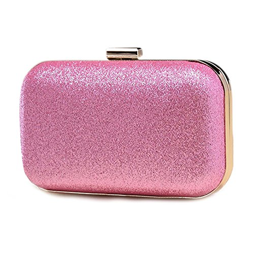 Espeedy Simple Moda Mujer Mini Messenger Bag De Cuero De La Cadena De Caja De Caja Dura Caja De Embrague De Las Damas De Las Bolsas De Hombro Para La Fiesta De Cumpleaños rosa