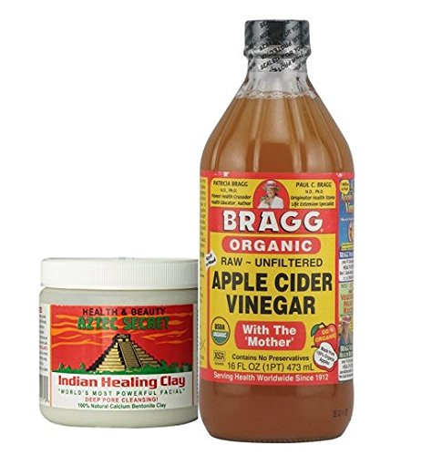 Aztec Secret Indian Healing Clay Deep Pore Cleansing and Bragg Apple Cider
