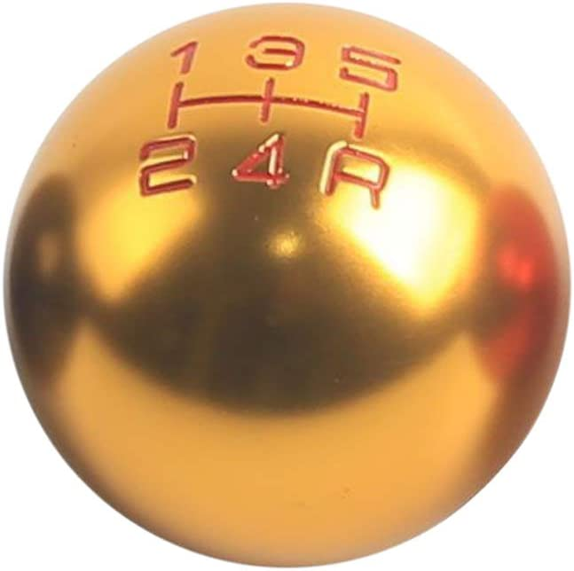 Threaded 5 Speed Round Ball Type R S Shift knob in Multiple Color Billet Aluminum for Gear Shifter Zhhlinyuan