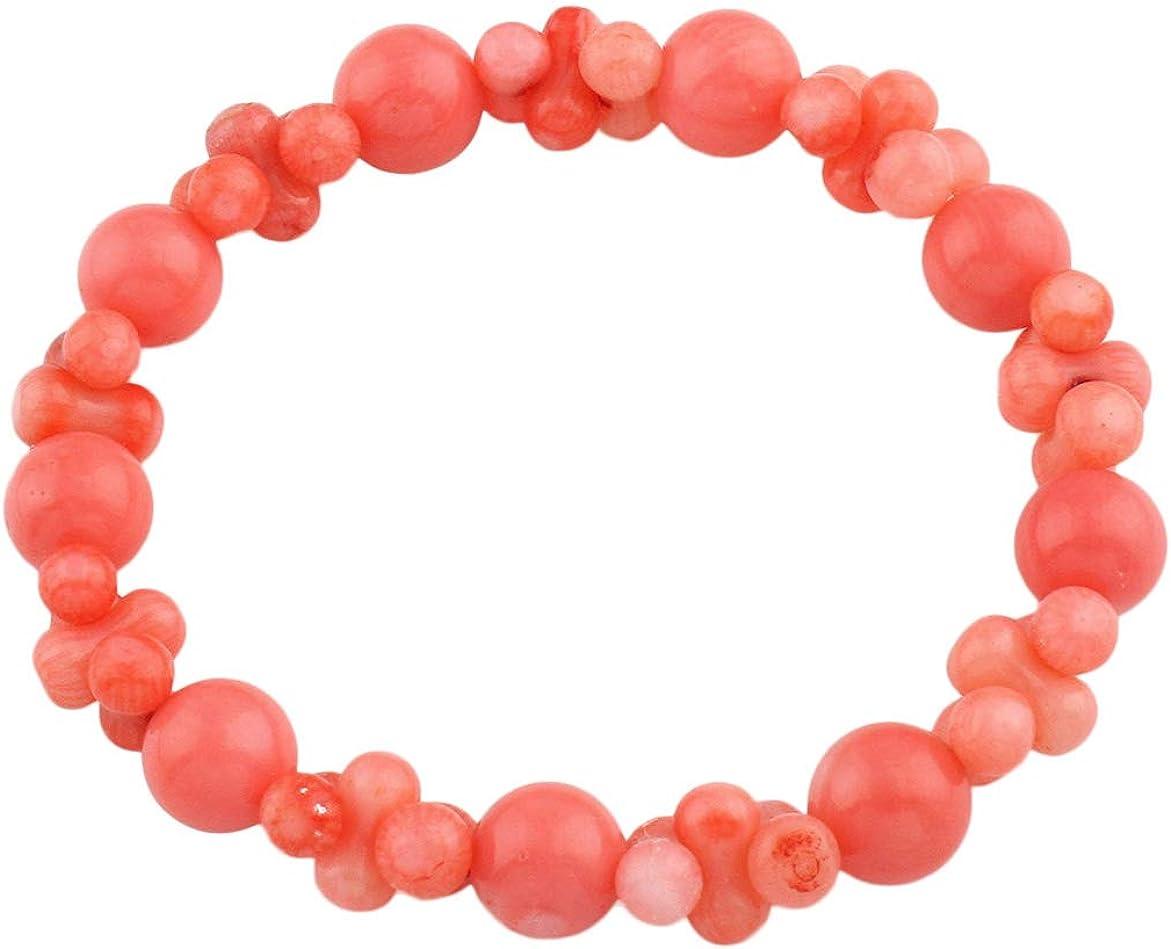 Clear Crystal, ojo de tigre y rosa coral tejido Wrap Pulsera de la amistad con mensaje