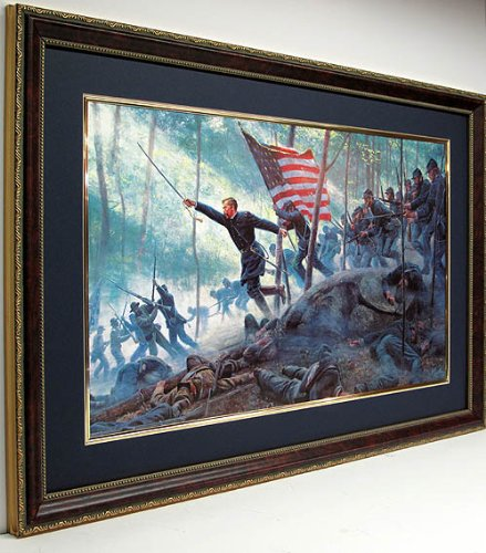 Chamberlains Charge Framed Poster Print Art By Mort Kunstler - Civil Paintings War