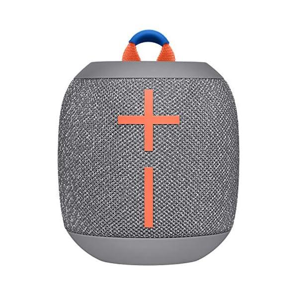 ULTIMATE EARS WONDERBOOM 2, Enceinte Portable Bluetooth Sans Fil, Son à 360 Degrés avec Basses Puissantes, Étanche / Anti-Poussière IP67, Capacité à Flotter, Portée de 30 Mètres - Crushed Ice Grey 1
