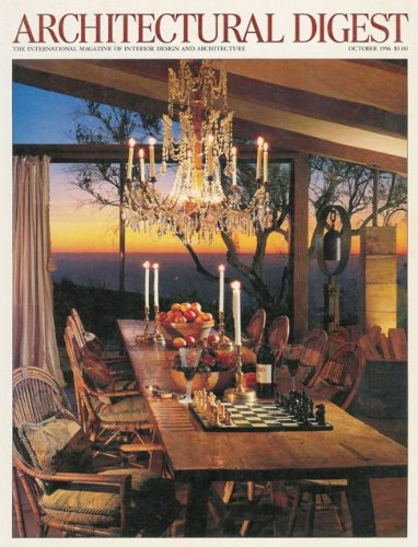 Architectural Digest (October 1996) Homes Of: Cher in Miami Beach; Paul Junger Witt and Susan Harris in Big Sur, Ca; and John Reid in New York; Japanese Landscape; Pre-Columbian Gold Ornament Antiques (Vol. 53, No. 10)