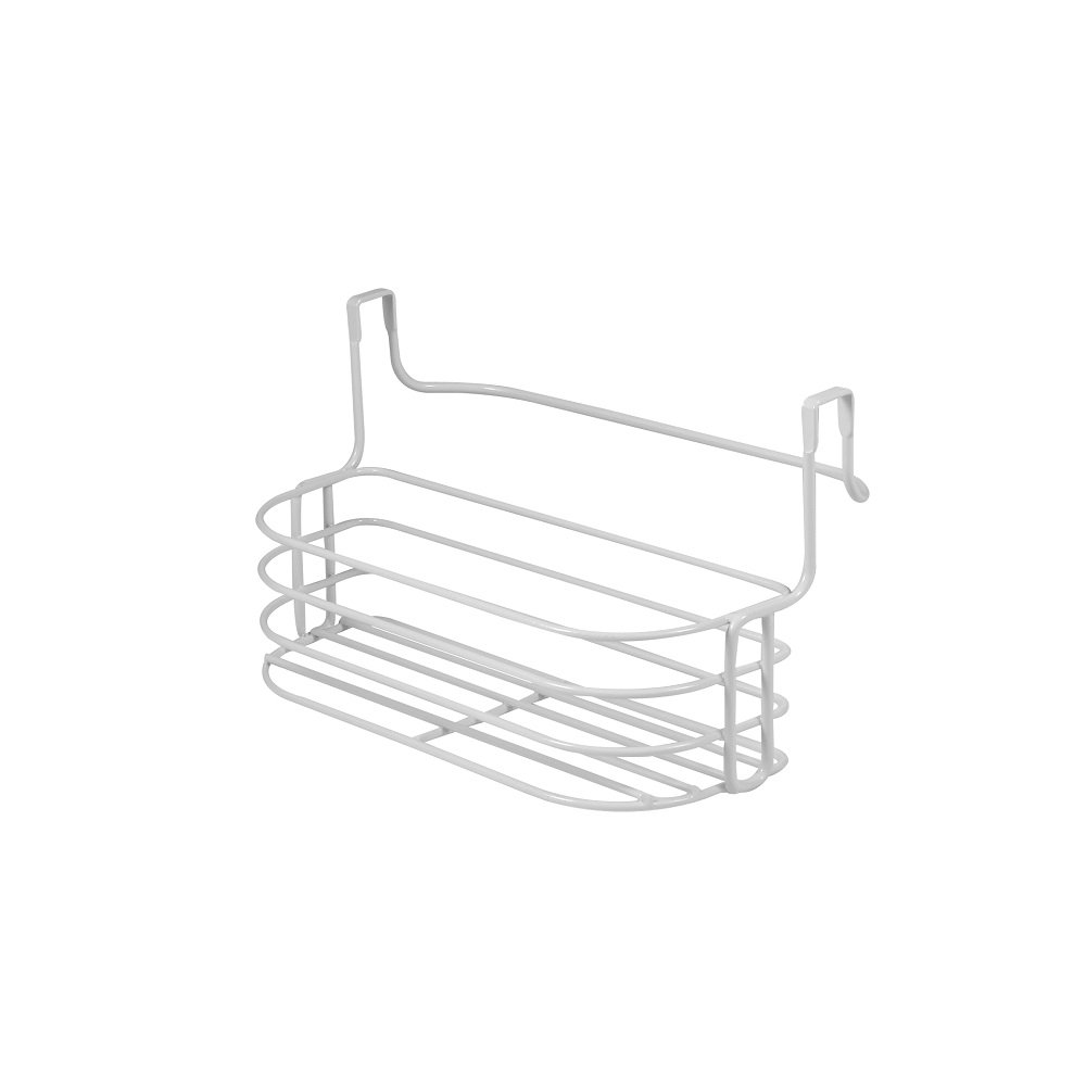 Spectrum Diversified Duo Over-the-Cabinet Towel Bar and Medium Basket, Chrome 81270