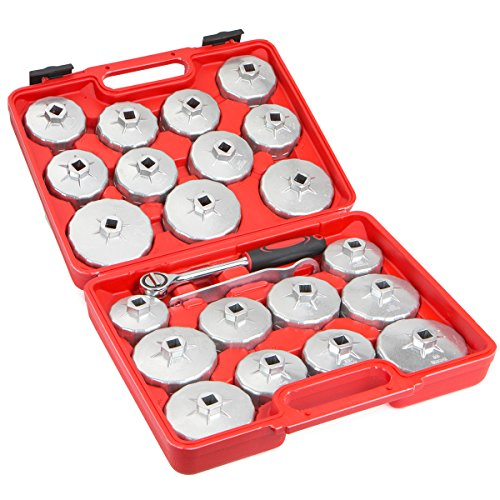 Aluminum Alloy Cup Type Oil Filter Cap Wrench Set Socket Removel (Oil Filler Cap Wrench)