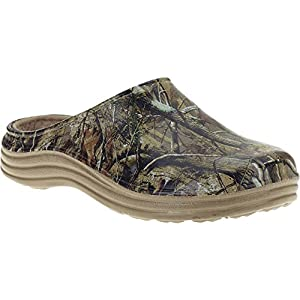 Realtree Camo Mens Lined Clog with Sherpa Lining