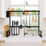 SOLEDI Over Sink Dish Rack Stainless Steel Dish Drying Rack Sturdy and Durable 72 Hours Anti Rust Test Maximize Kitchen Space Easy to Assemble (For Sink Length ≤ 24.6 inch)