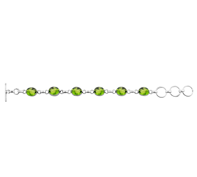 Peridot Quartz 925 Sterling Silver Overlay Handmade Fashion Bracelet Jewelry by Sterling Silver Jewelry (Image #2)