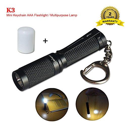 K3 Mini Keychain Aaa Flashlight Multipurpose As Caplight Camplight Tablelight 150 Lumens 3 Levels And Strobe Small Bright Waterproof Torch For Edc Reading Sleep Dog Walking Camping Hiking  Emergency