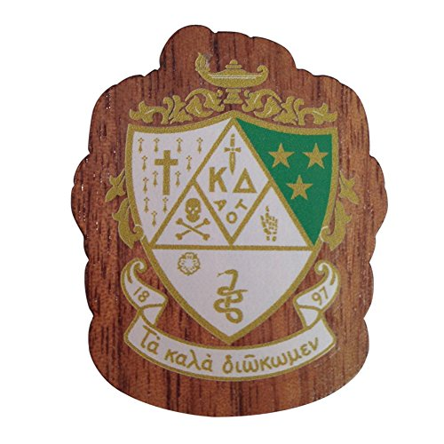 Kappa Delta Sorority Wood Crest Made of Wood for Paddle Mascot Board KD (1.5 Inch Tall Single Raised) ()