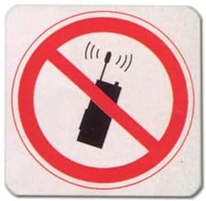 Cartel de Advertencia–Móvil Prohibido–Pictograma DIN 4844.–2–Teléfono cellp Smartphone Cell Phone Cartel warnschild warnzeichen trabajo Placa para puerta Seguridad Puerta plástico plástico placa regalo Cumpleaños