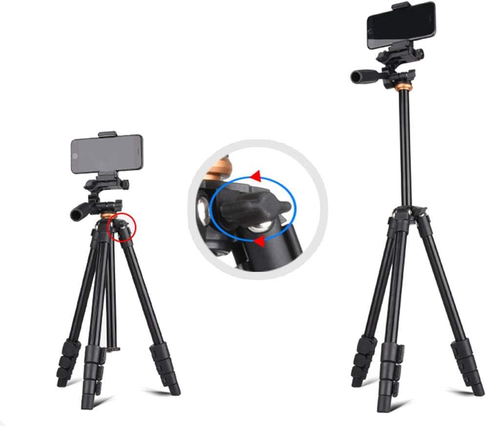 Color : Black Jiabei Three Tripod Camera Mobile Phone Live Photography Video Shoot Outdoors Tripod