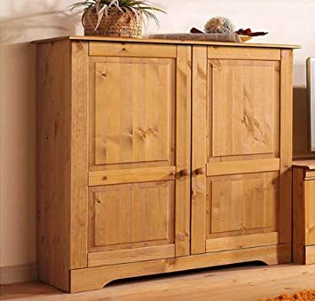 sideboard kommode 8815344 kiefer massiv gelaugt geölt: amazon.de ... - Küche Kiefer Massiv