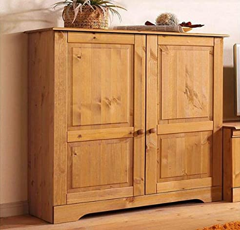 Sideboard Kommode 8815344 Kiefer Massiv Gelaugt Geölt: Amazon.De