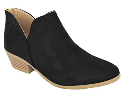 select for latest Buy Authentic durable modeling Amazon.com | Soda Women Small Short Heel Ankle Boots Back ...