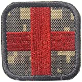 """Medic Cross Morale Tactical Patch with Velcro by Backwoods Barnaby (2"""" x 2"""")"""