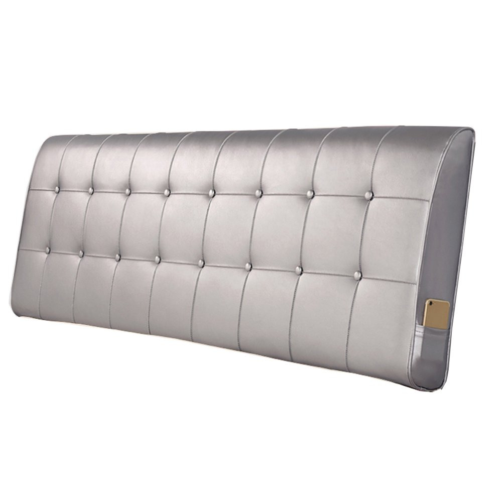 A 180x10x60CM DDSS Backrest Pillow Bedside Cushion-European Bedroom Bedside Cushion Support Backrest Waist Pillow Artificial Large Back Leather Soft Case Bed Washable  -  (color   D, Size   90x10x60CM)