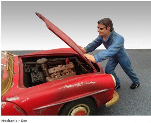 Mechanic Ken Figure For 1:18 Models by American Diorama 23790