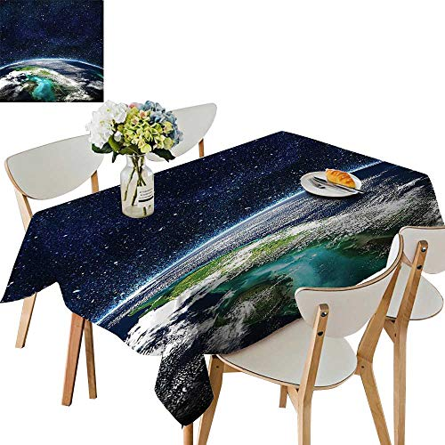 UHOO2018 Fitted Polyester Tablecloth   Mo Universe ati Collecti Giclee Galaxy Nebula h and Stars Square/Rectangle Washable for Tablecloth,50 x 72inch