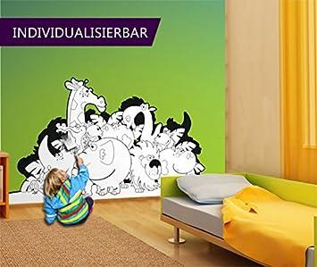 Carta Da Parati Da Colorare Per Bambini Urwald Party At6 Dimensioni