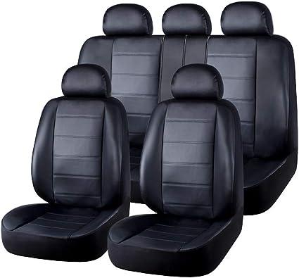 Housses Si/ège Auto Avant et Arri/ère Voiture Universelle avec Airbag Syst/ème Comfort Noir