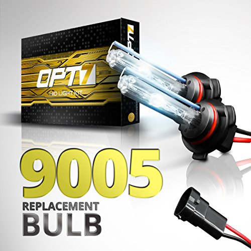 OPT7® Bolt Z-Arc HID Replacement AC Bulbs - 9005 (10000K, Blue) Xenon Light