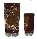 "The Twilight Saga: New Moon Merchandise - Glass Candle (Wolf Girl / Tribal Logo) (Size: 5"")"