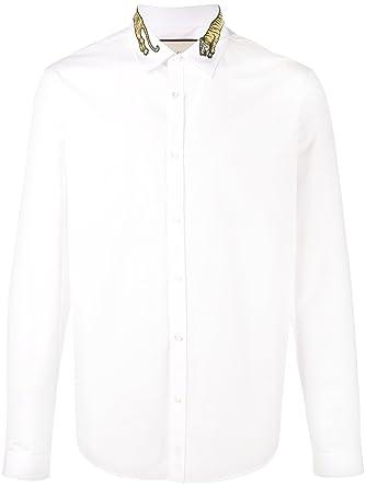 9f399f446c47 Gucci Homme 456706Z308E9000 Blanc Coton Chemise  Amazon.fr ...