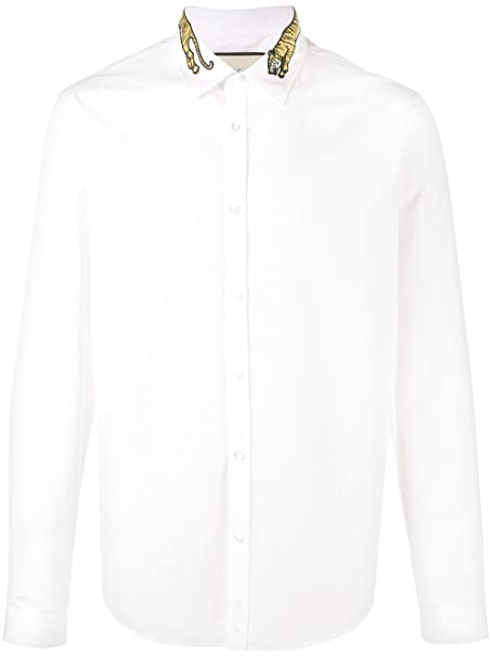 finest selection 4a278 e7300 Gucci Camicia Uomo 456706Z308E9000 Cotone Bianco: Amazon.it ...
