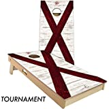 Rustic State Flag 4 by 2 feet Regulation Size Cornhole Boards Sets; 100% USA Made | Slick Woody's Cornhole Company